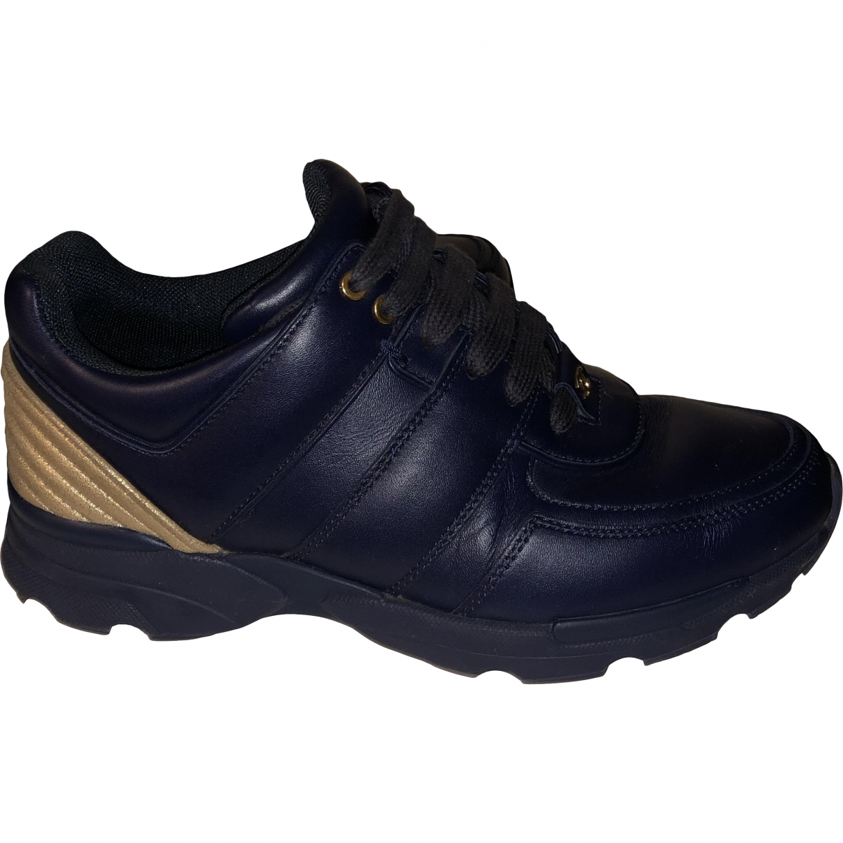 Chanel \N Blue Leather Trainers for Women 36 EU