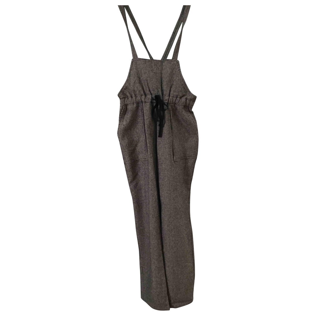 Leon & Harper \N Grey Wool jumpsuit for Women 36 FR