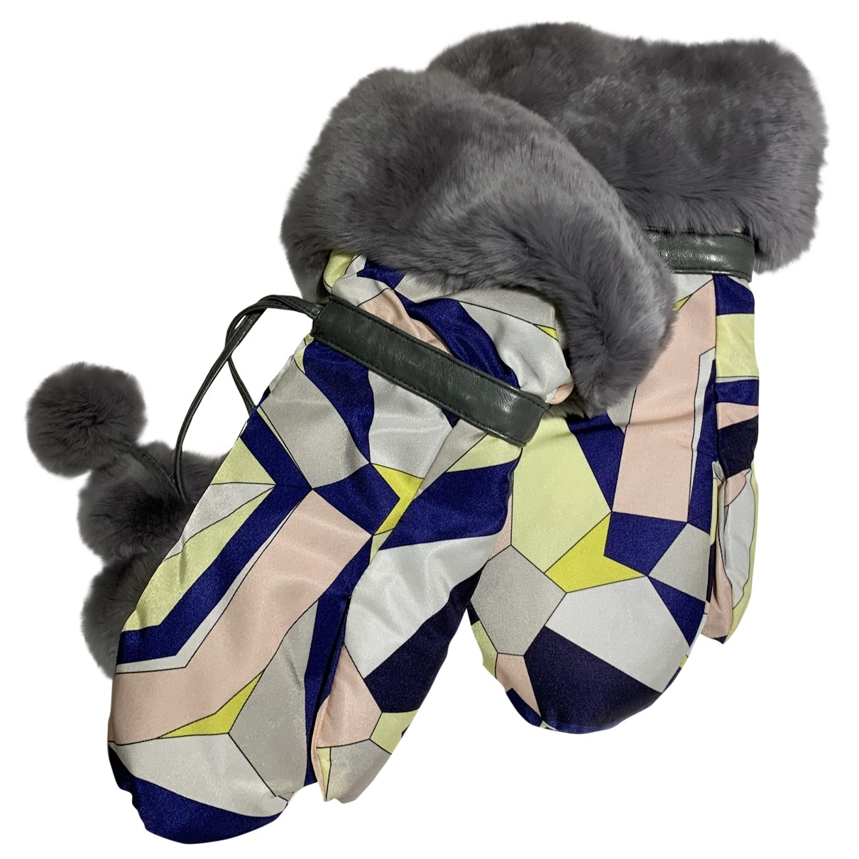Emilio Pucci \N Multicolour Rabbit Gloves for Women S International