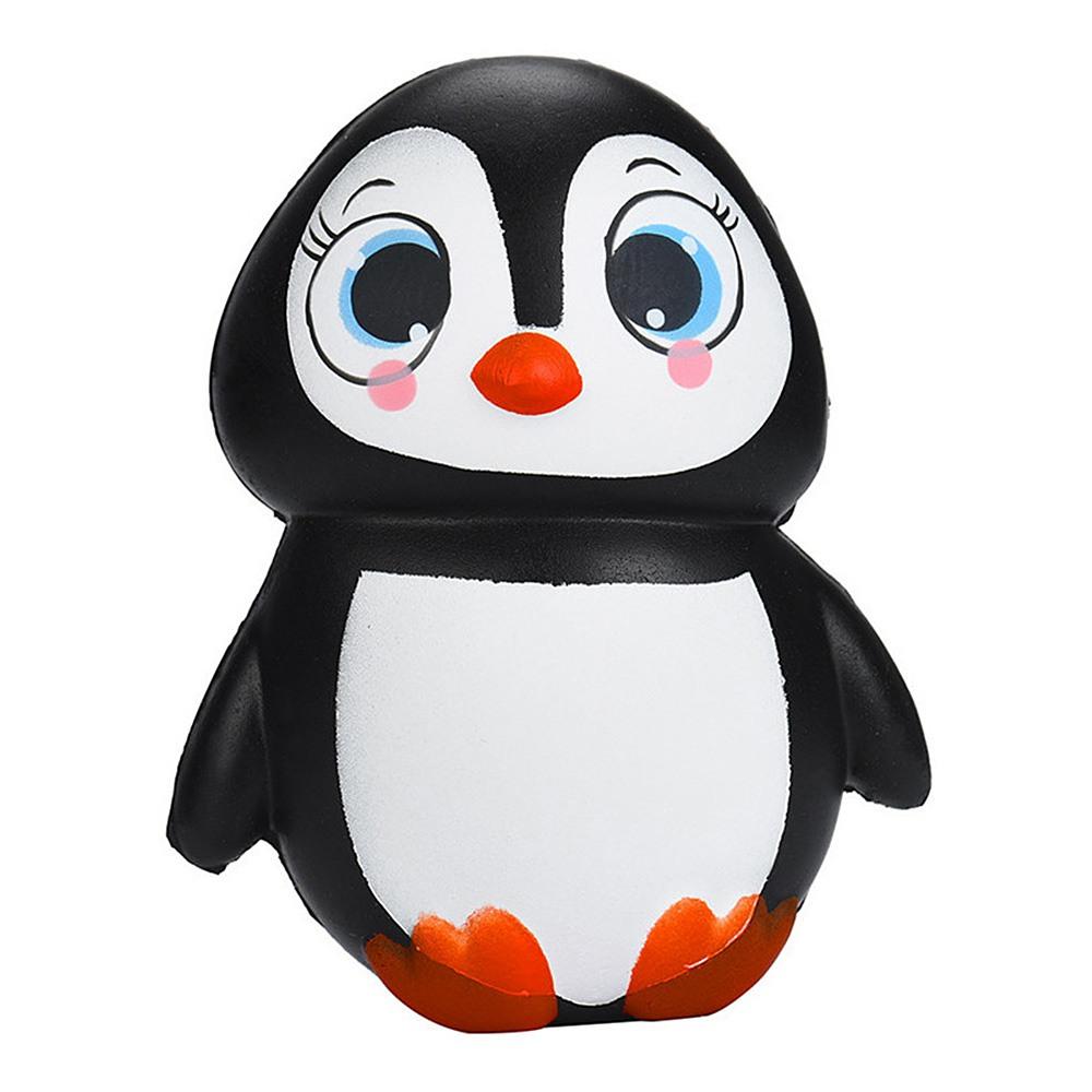 13CM Jumbo Animal Penguin Kawaii Cute Cartoon Squishy Slow Rising Phone Straps Soft Bread Cake Toy-Girl