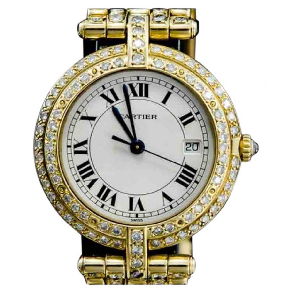 Cartier - Montre Panthere Vendome pour femme en or jaune - dore