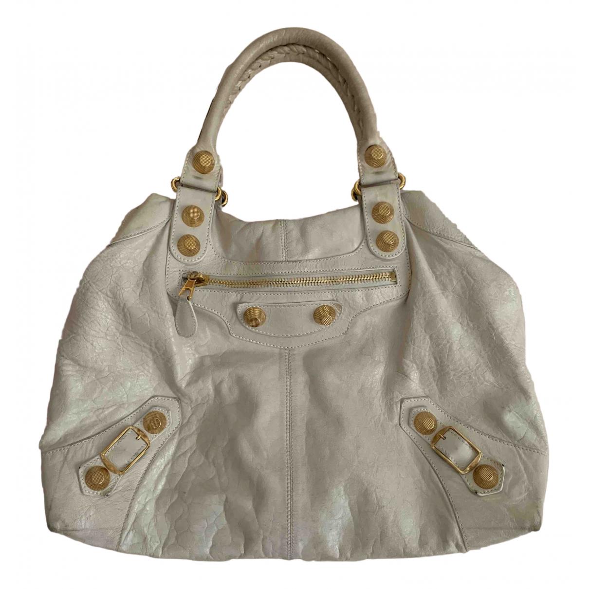 Balenciaga \N White Leather handbag for Women \N