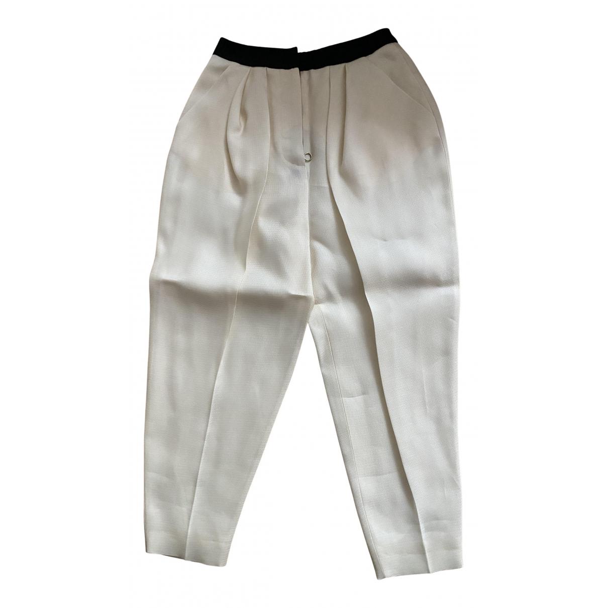 Roksanda N White Cotton Trousers for Women 8 UK