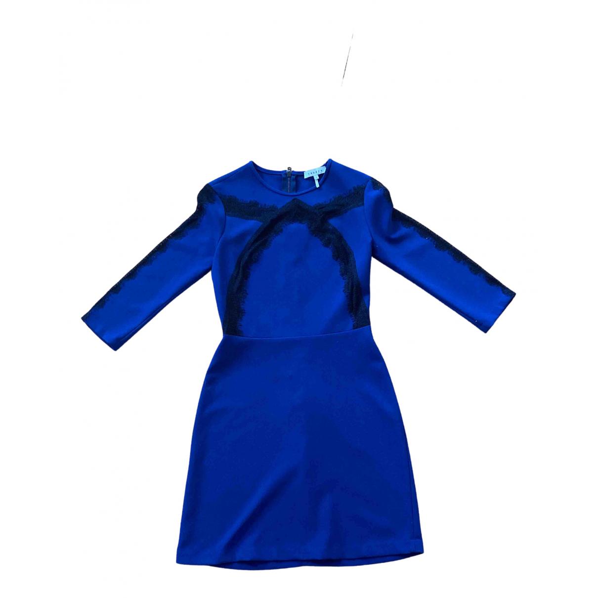 Sandro \N Kleid in  Blau Baumwolle