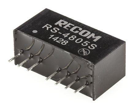 Recom RS 2W Isolated DC-DC Converter Through Hole, Voltage in 36 → 72 V dc, Voltage out 5V dc