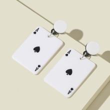Ohrringe mit Karten Dekor