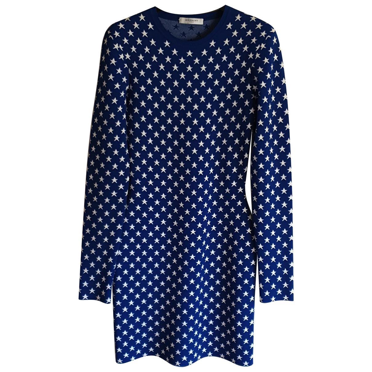 Givenchy \N Kleid in  Blau Viskose