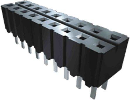 Samtec , CES, CES 2.54mm Pitch 9 Way 1 Row Vertical PCB Socket, Through Hole, Solder Termination (24)