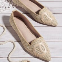 Geometric Graphic Wide Fit Flats