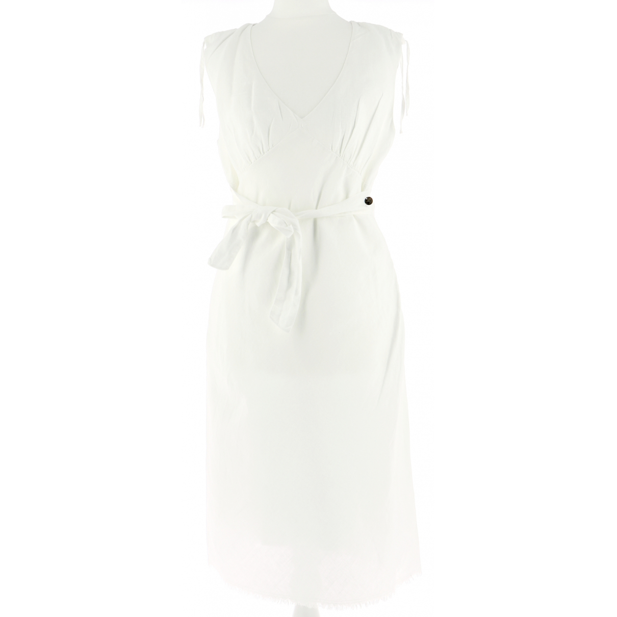 Ikks \N Kleid in  Weiss Leinen