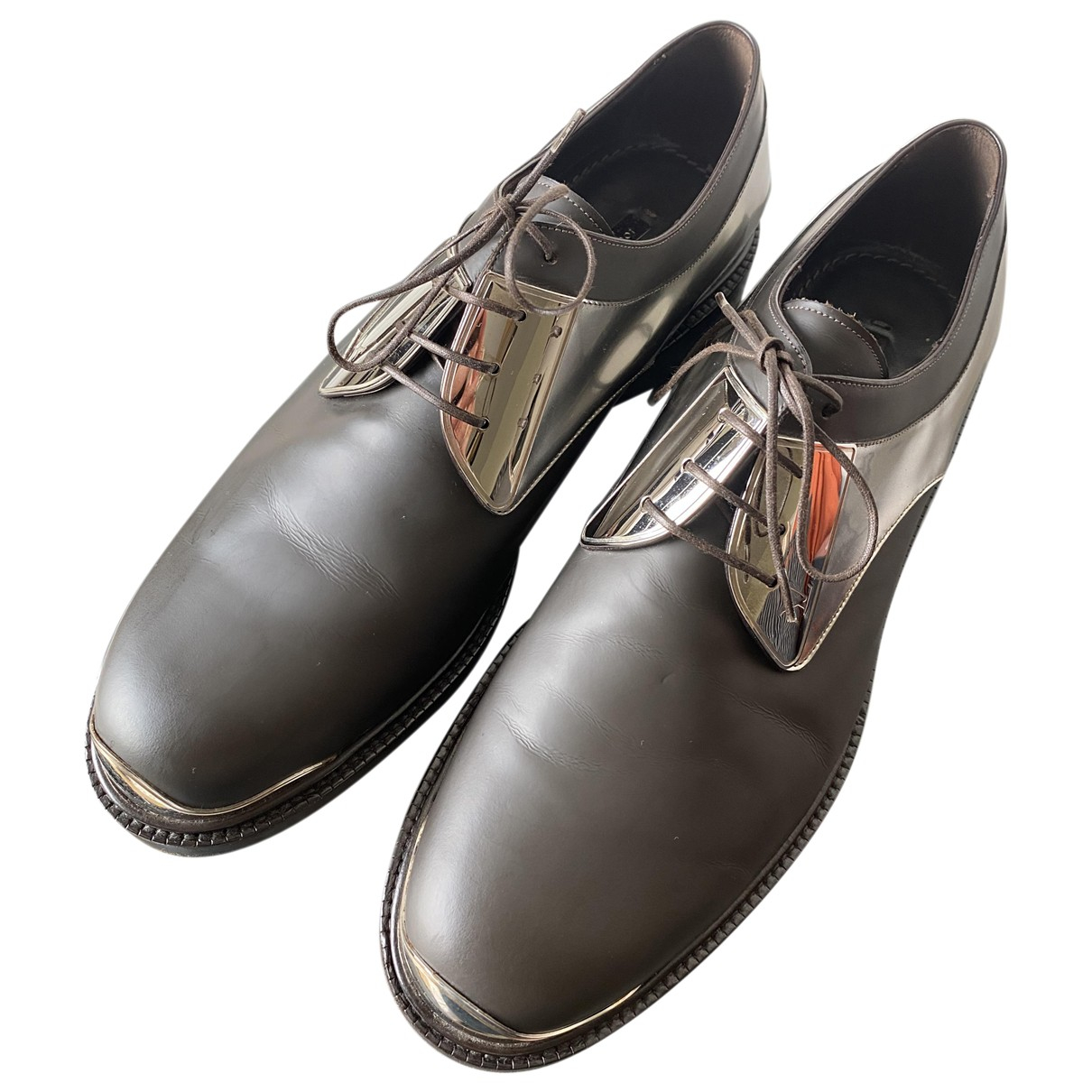 Louis Vuitton N Brown Leather Lace ups for Men 8 UK