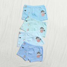 Toddler Boys 4pack Cartoon Graphic Underwear