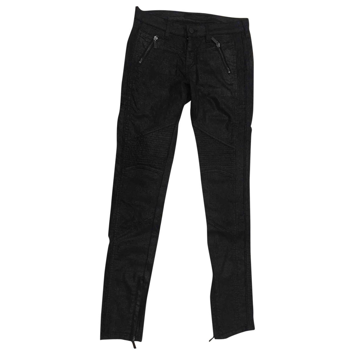 Karl Lagerfeld \N Black Cotton - elasthane Jeans for Women 26 US