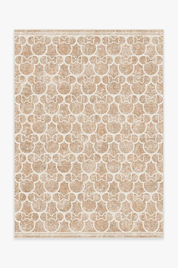 Washable Rug Cover | Minnie Trellis Rose Gold Rug | Stain-Resistant | Ruggable | 5x7