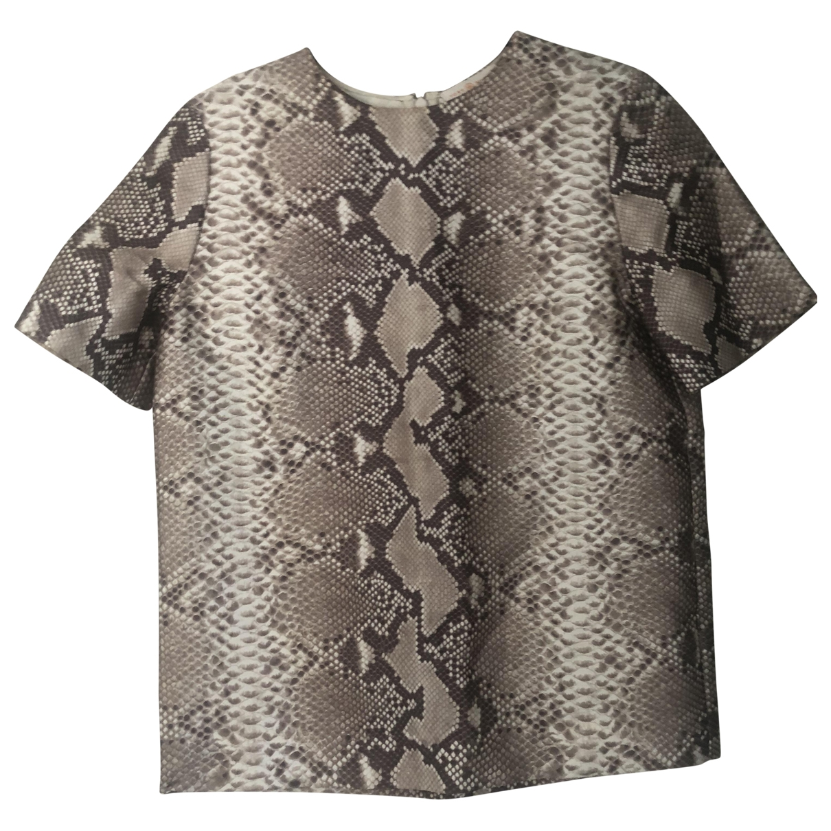 Tory Burch - Top   pour femme en soie - beige