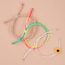 3pack Sunflower Rope Bracelet