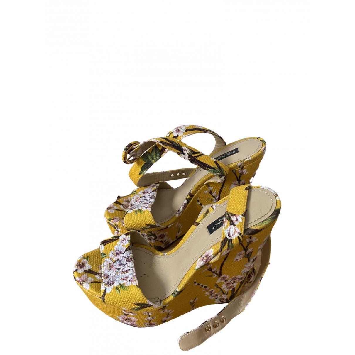 Dolce & Gabbana \N Espadrilles in  Gelb Leinen