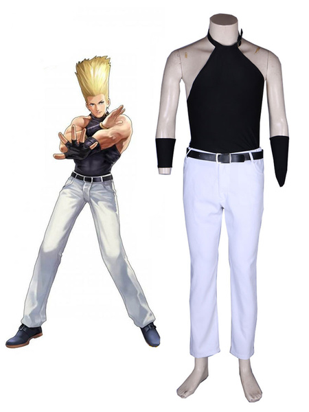 Milanoo Halloween The King Of Fighters 97 KOF Benimaru Nikaido Disfraz de Cosplay