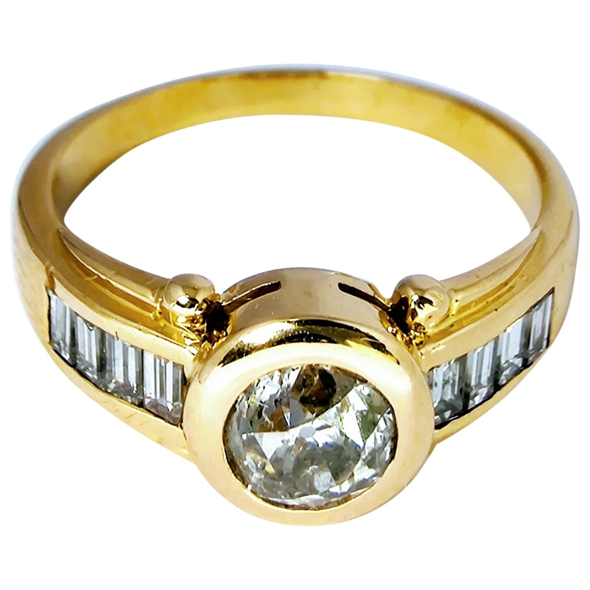 Non Signe / Unsigned \N Ring in  Gold Gelbgold