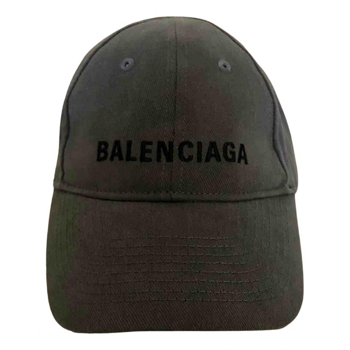 Balenciaga - Chapeau & Bonnets   pour homme en coton - gris