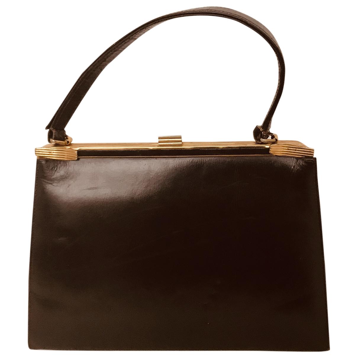 Macys \N Brown Leather handbag for Women \N