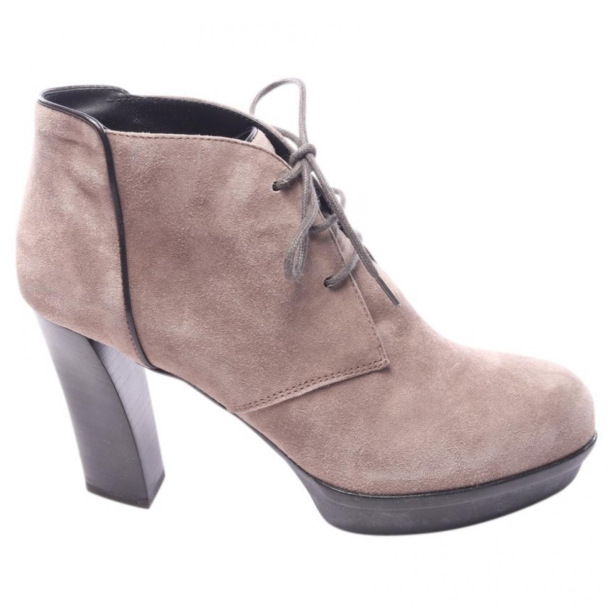 Tods - Boots   pour femme en cuir - marron