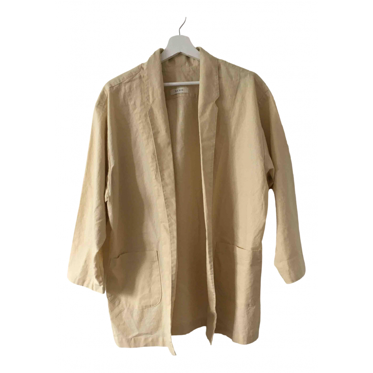 Non Signé / Unsigned \N Beige Linen jacket for Women One Size International