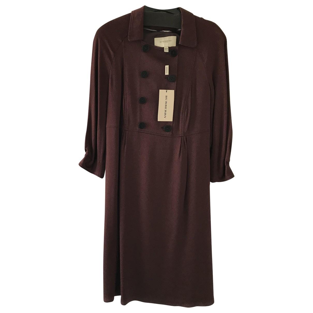 Burberry \N Kleid in  Bordeauxrot Viskose