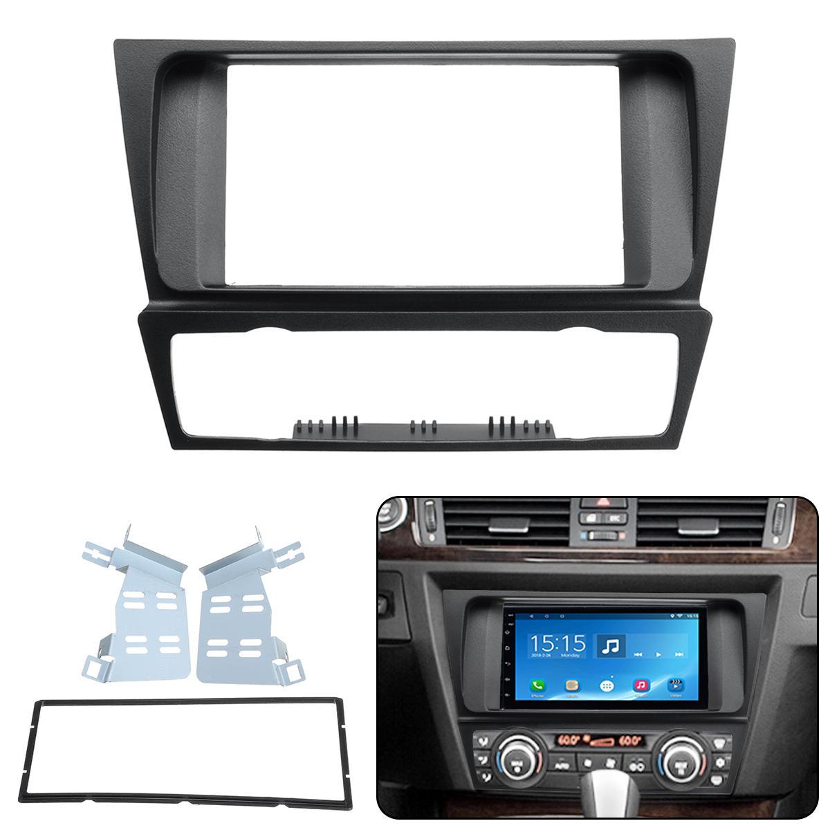 2Din Car Radio Stereo Surround Fascia Panel Plate Adapter For BMW 3 Series E90 E91 E92 E93 04-12