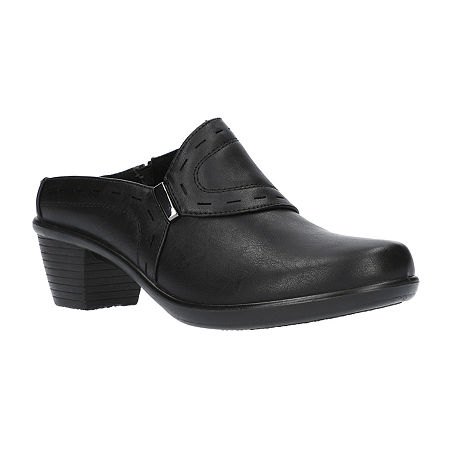 Easy Street Womens Cynthia Mules, 9 1/2 Wide, Black