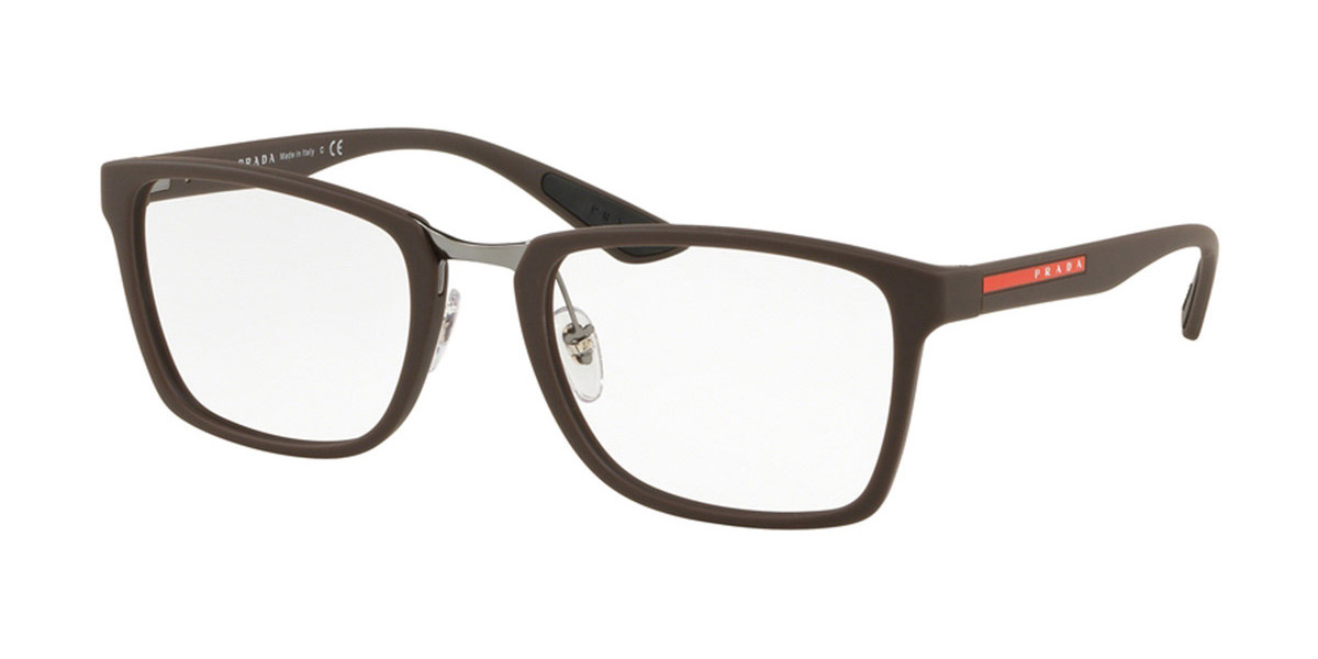 Prada Linea Rossa PS06LV VYY1O1 Men's Glasses Brown Size 55 - Free Lenses - HSA/FSA Insurance - Blue Light Block Available