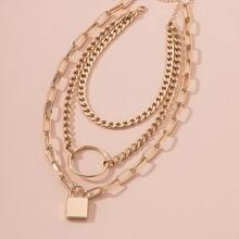 2 Stuecke Halskette mit Verschluss Anhaenger