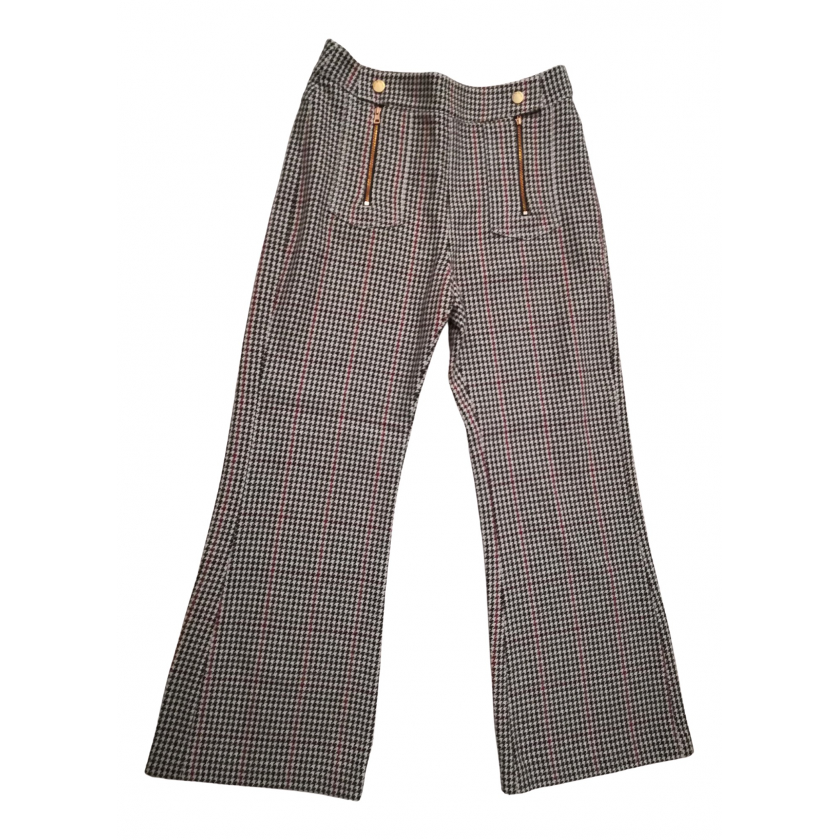 See By Chloé N Multicolour Wool Trousers for Women M International