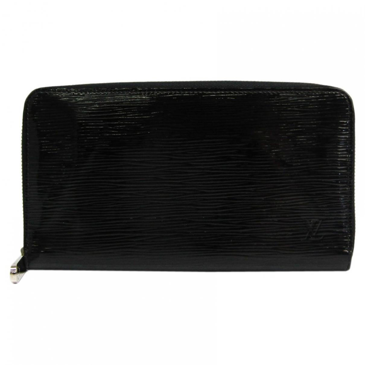 Louis Vuitton - Portefeuille   pour femme en cuir verni - noir