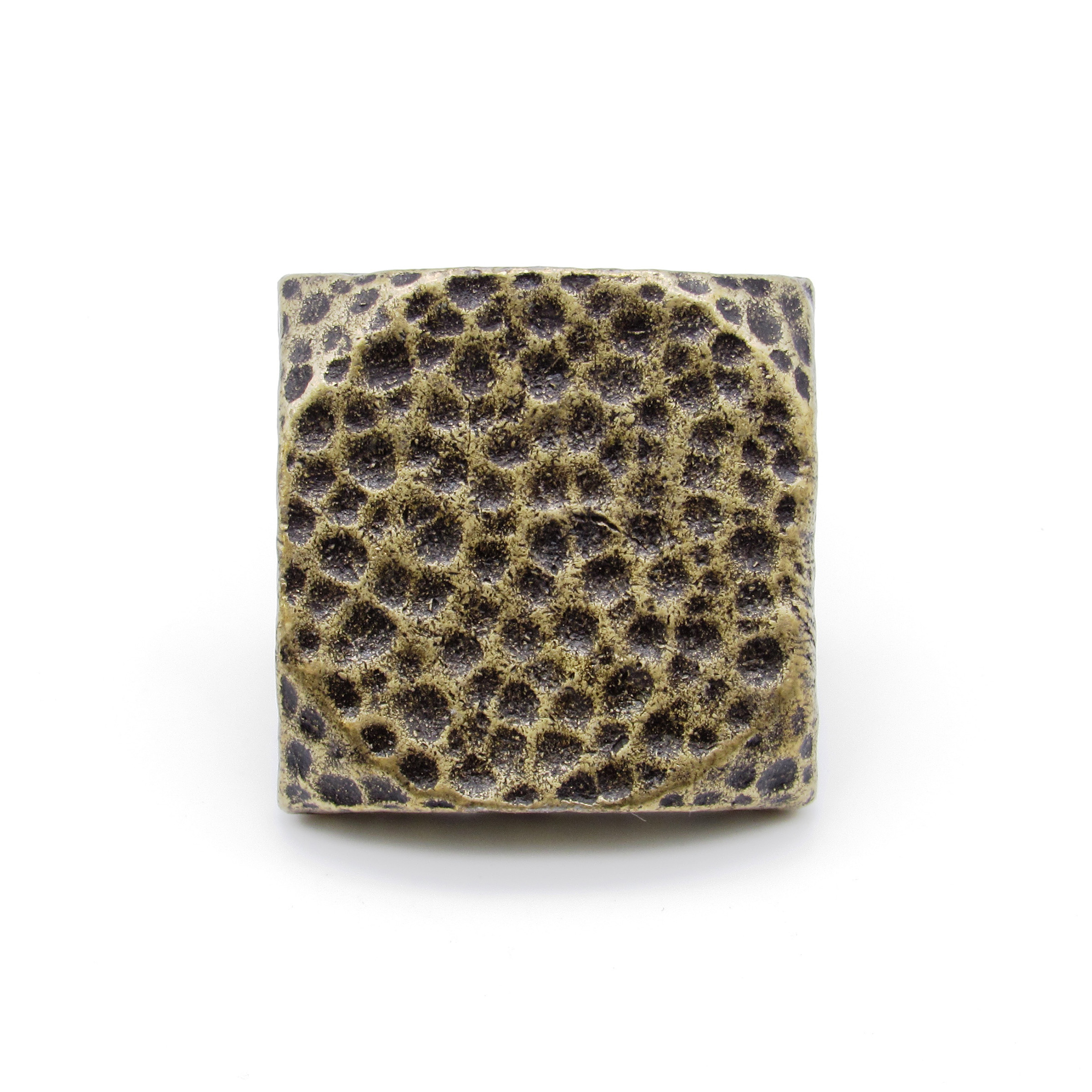 """Square 1-1/2"""" Hammered Clavo Decorative Nail, 8-Pack, Brass Oxide"""