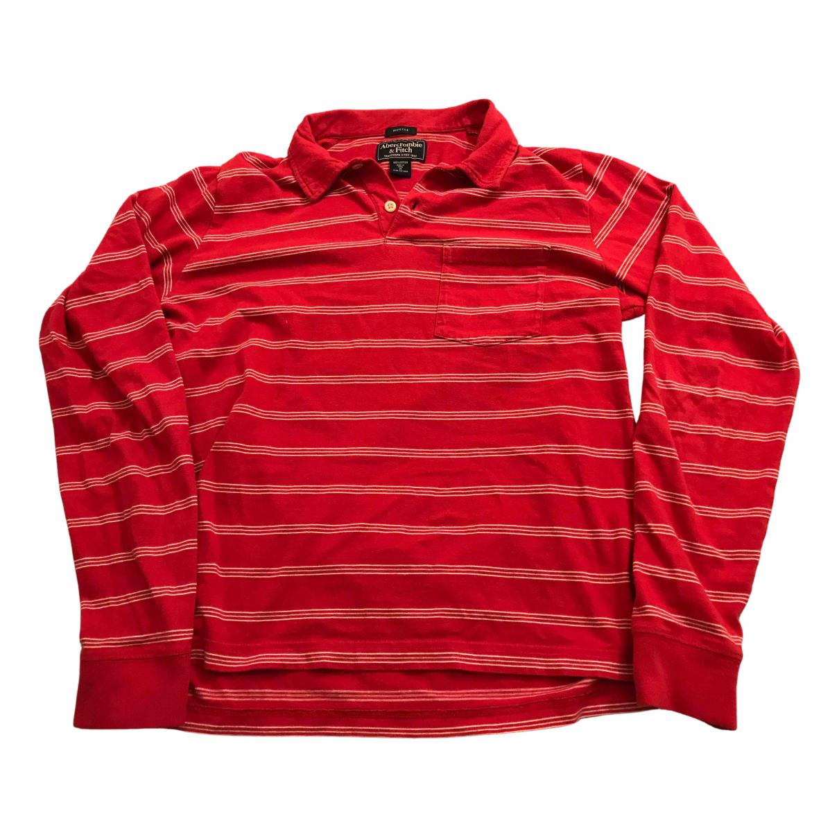 Abercrombie & Fitch - Tee shirts   pour homme en coton - rouge