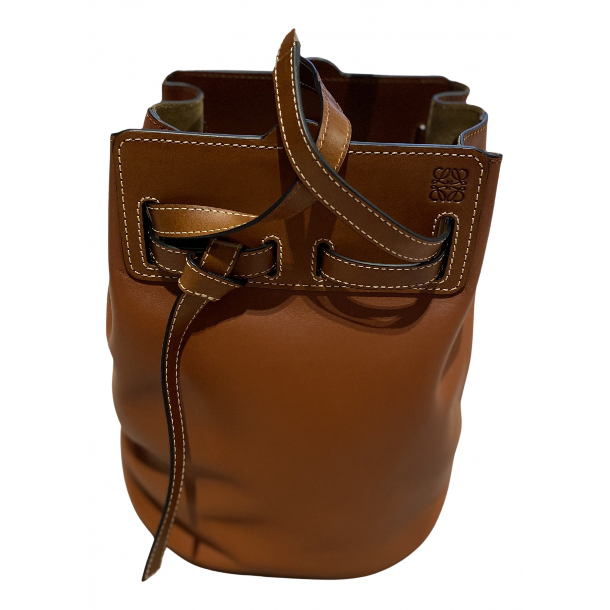 Loewe Ruk Bucket Camel Leather handbag for Women N