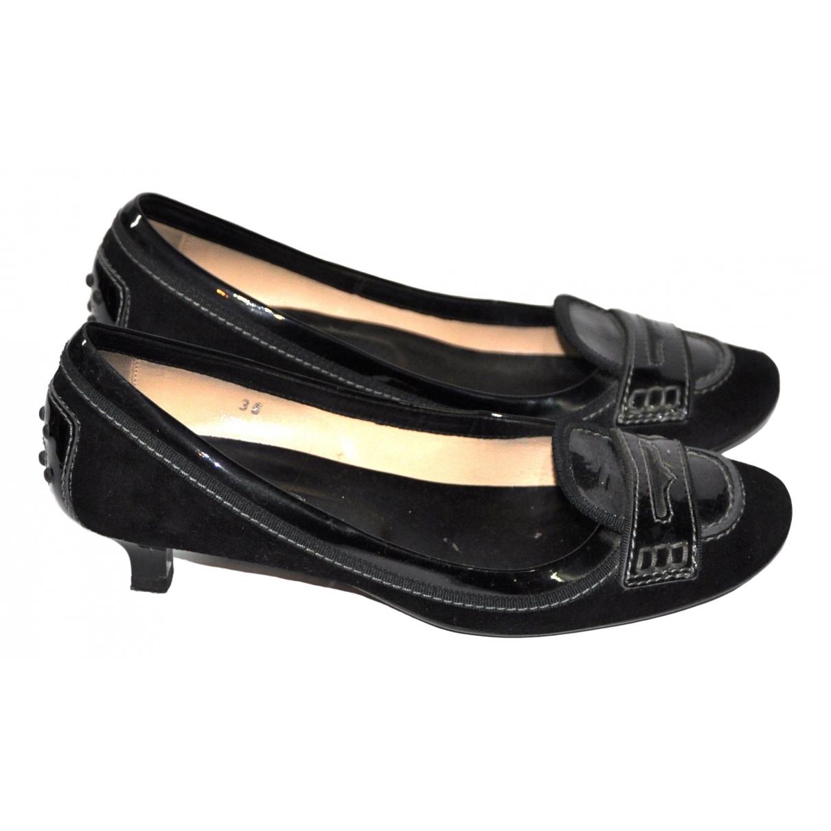 Tod's \N Black Suede Heels for Women 36 EU