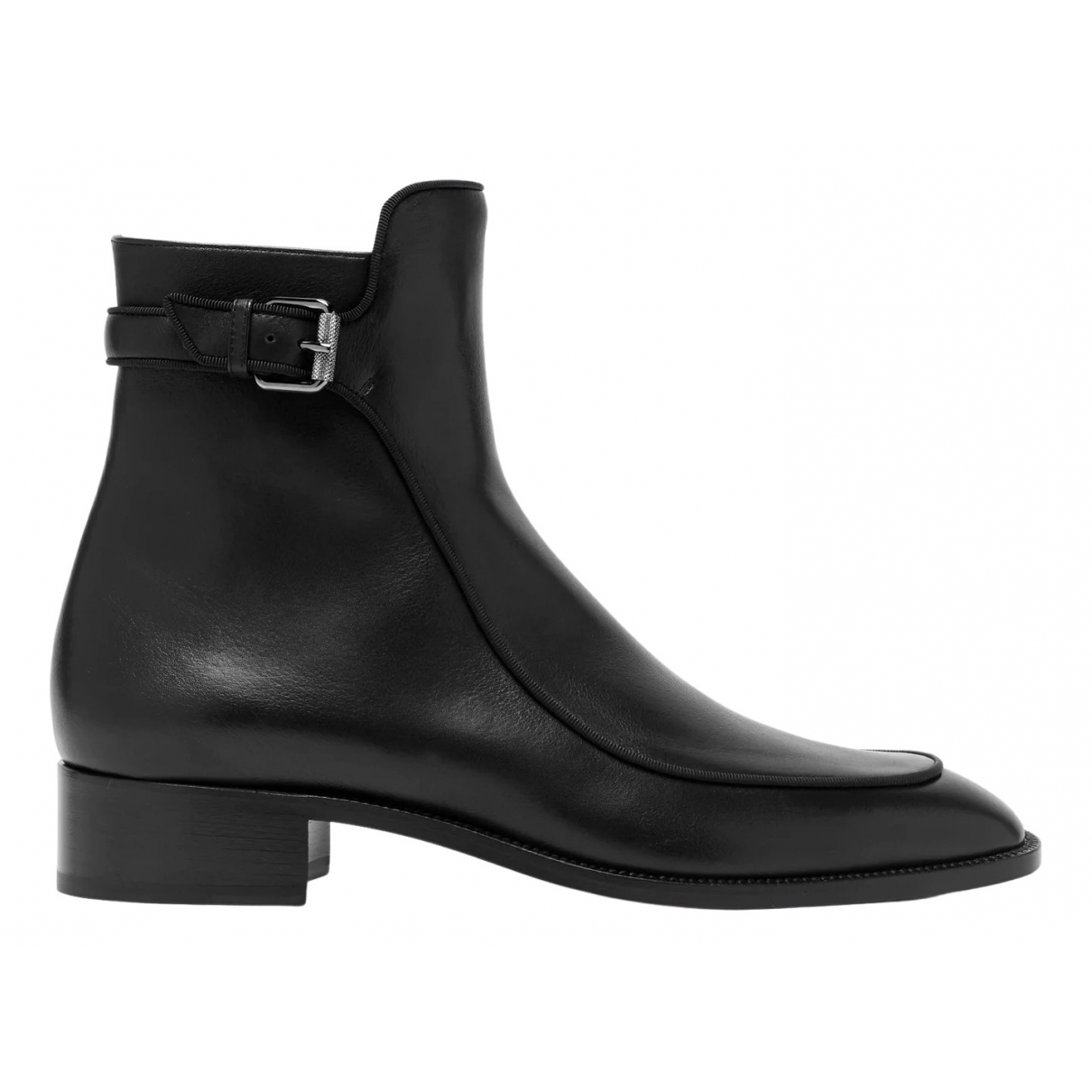 Christian Louboutin \N Black Leather Ankle boots for Women 39.5 EU