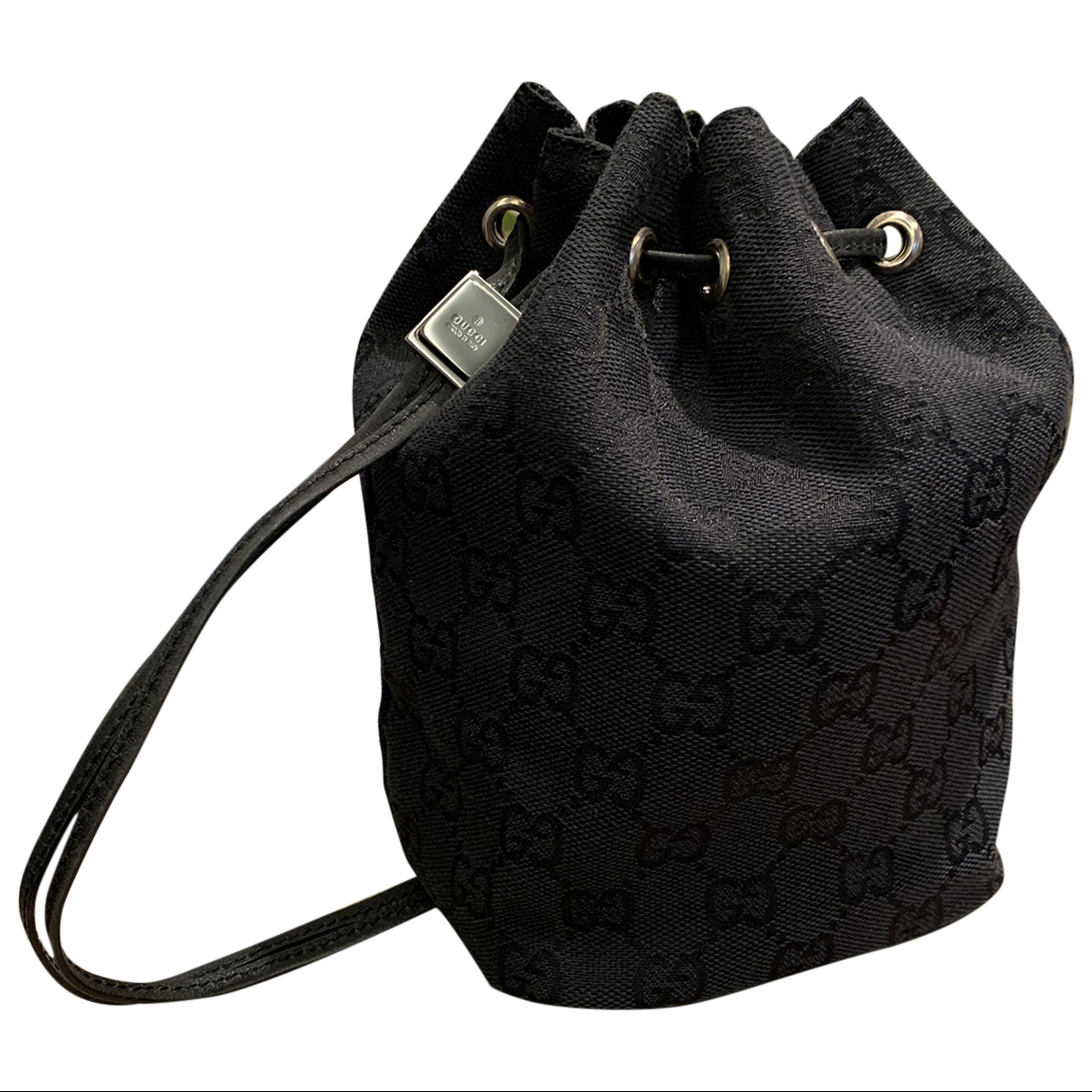 Gucci - Pochette   pour femme en coton - noir