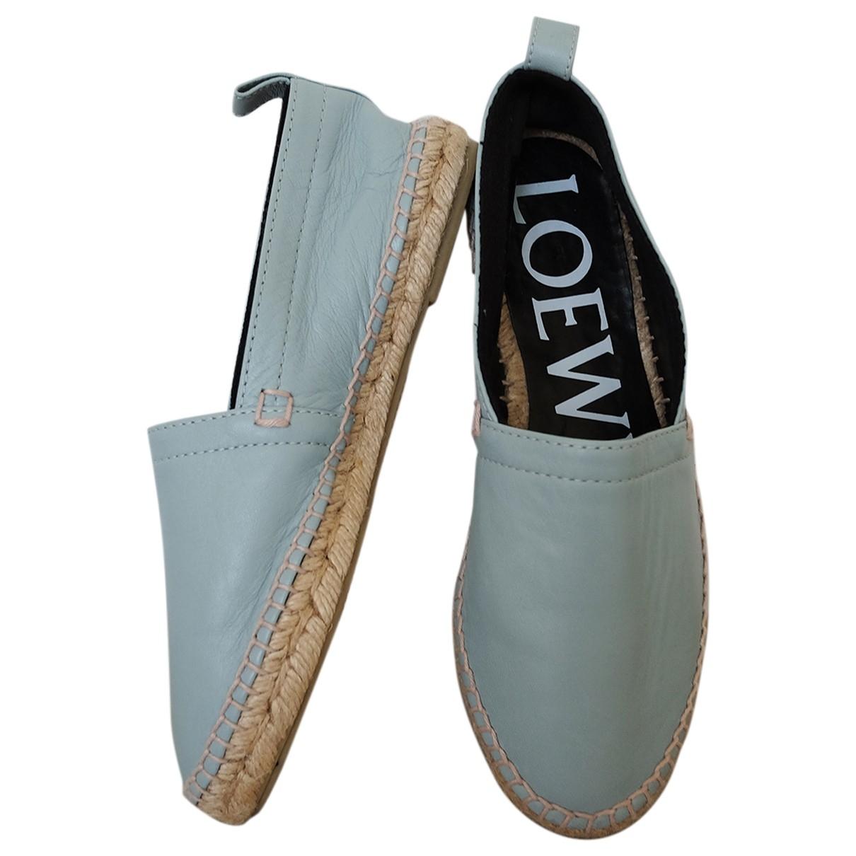 Loewe - Espadrilles   pour femme en cuir - bleu