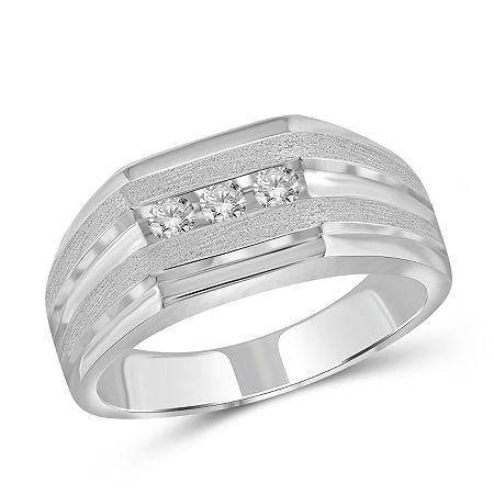 Mens 1/4 CT. T.W. Genuine White Diamond 10K Gold Fashion Ring, 10 , No Color Family