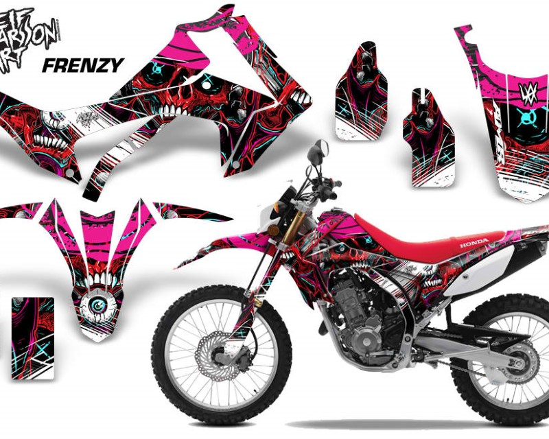 AMR Racing Dirt Bike Graphics Kit Decal Sticker Wrap For Honda CRF250L 2013-2016áFRENZY RED