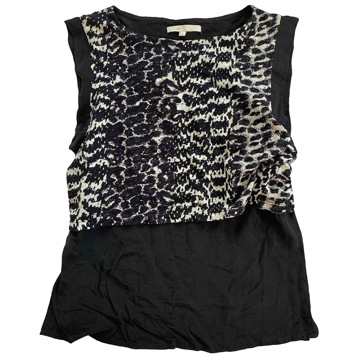 Maje \N Black Silk  top for Women 36 FR