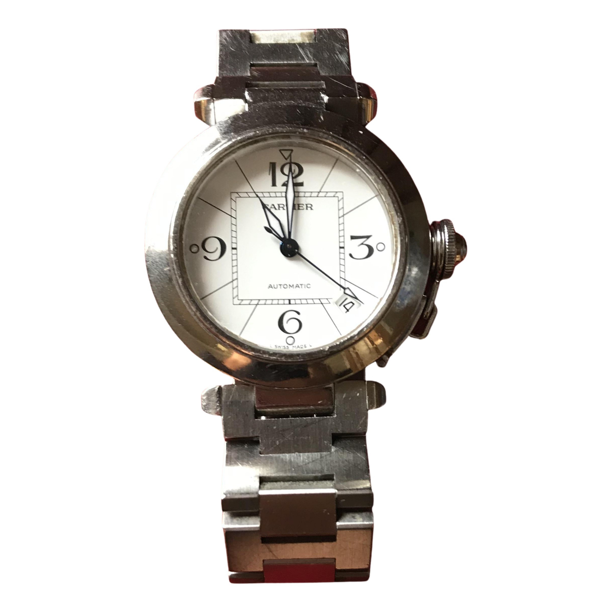 Cartier Pasha Uhr in  Silber Stahl