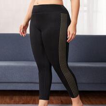 Leggings y pantalones deportivos de talla grande Geometrico