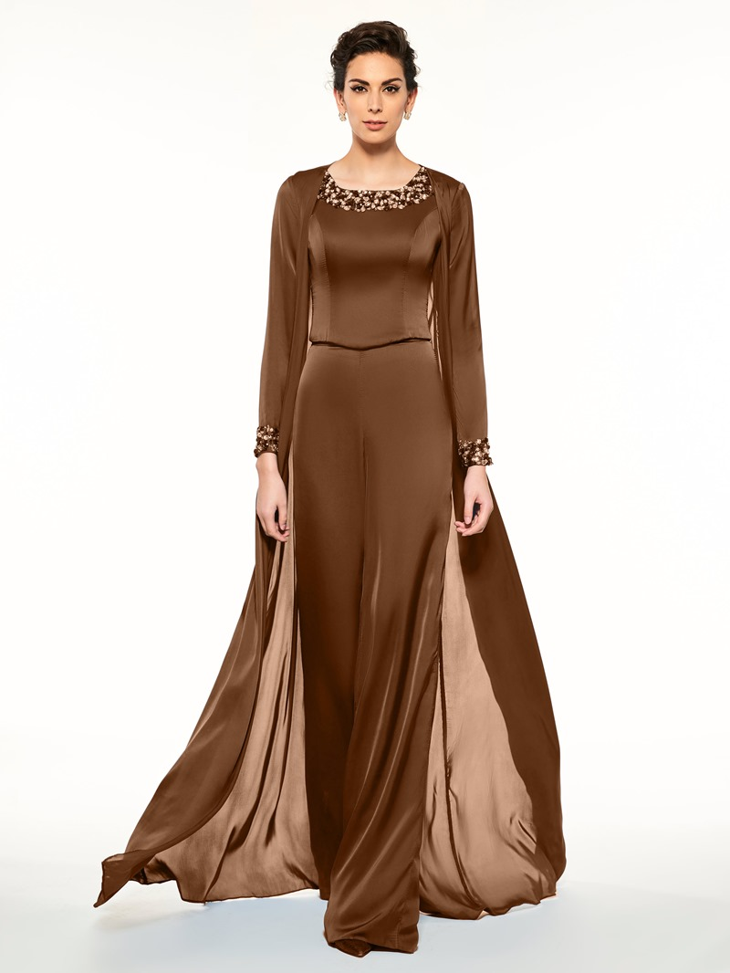 Ericdress 3 Pieces Beading Mother of the Bride Pantsuits with Shawl