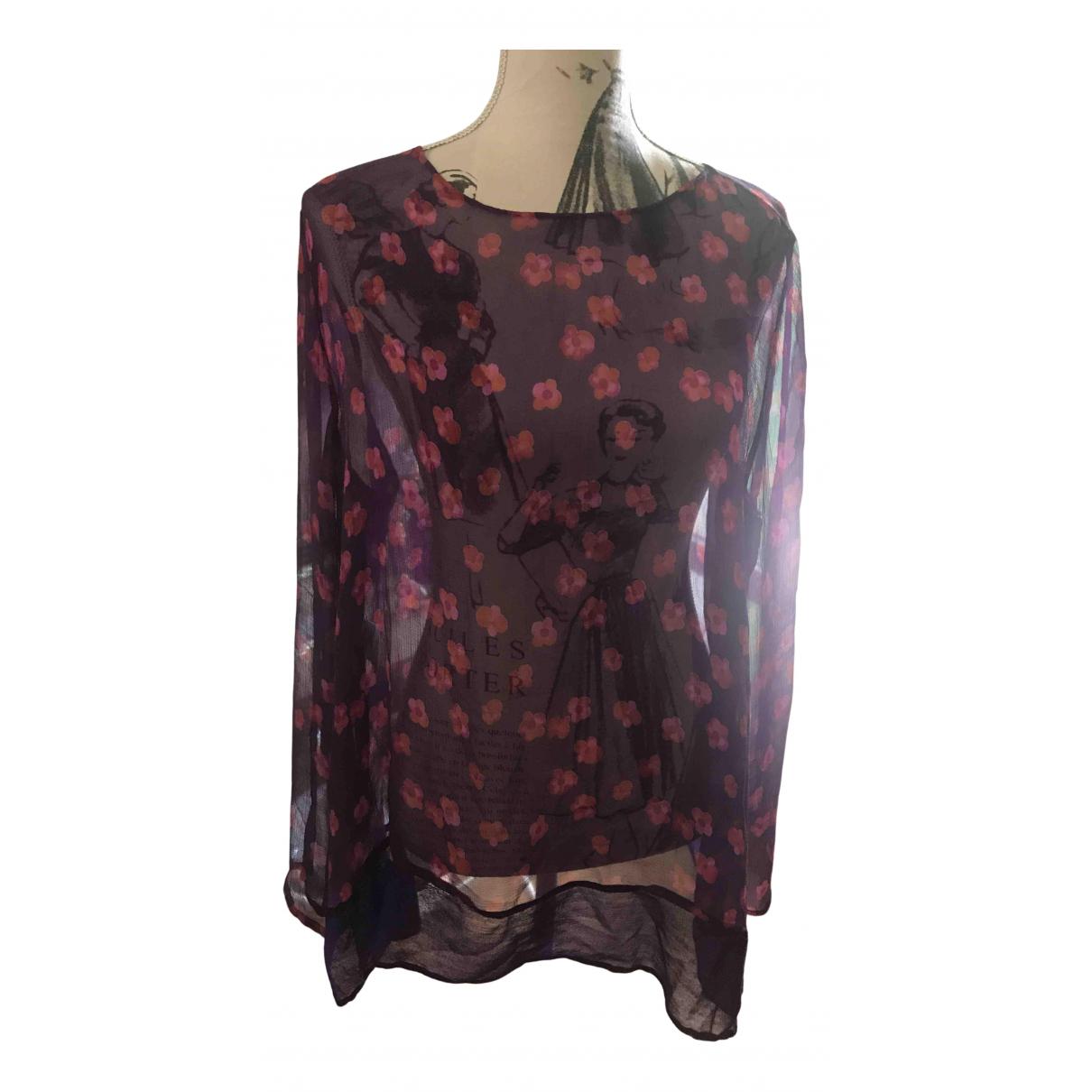 Aspesi N Purple Silk  top for Women 44 IT