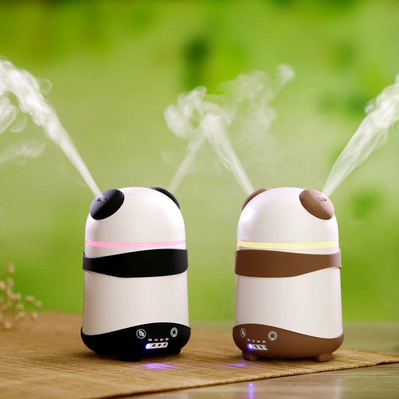 Panda Dual-Nozzle Ultrasonic Aroma Diffuser Air Humidifier Aromatherapy Mist Maker