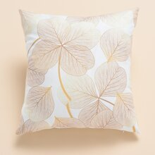 Leaf Pattern Cushion Cover Without Filler